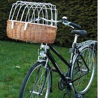Hunde Fahrradkorb mit Schutzgitter
